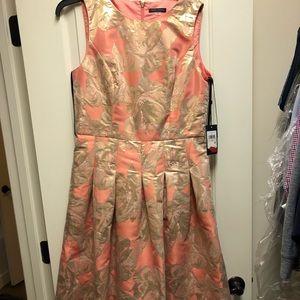 Tommy Hilfiger Coral Floral Gold Dress
